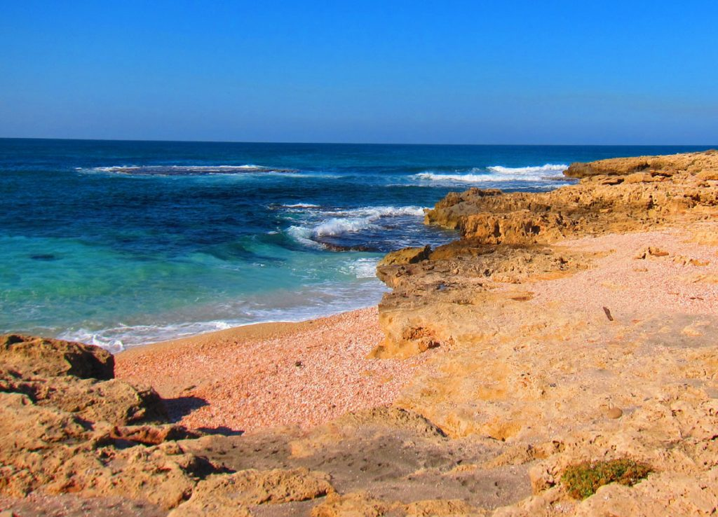 Coastline of Netanya, Israel
