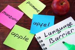 Language barrier in blogging